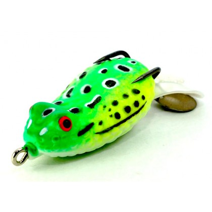 Spider King Soft Foot Rubber Frog With Spinner Bait Lure Fishing Hook