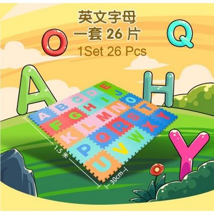 Sunta English Alphabet Big Capital Baby EVA Foam Play Floor Puzzle Crawling Mat Multicolor Non Toxic Material 26Pcs