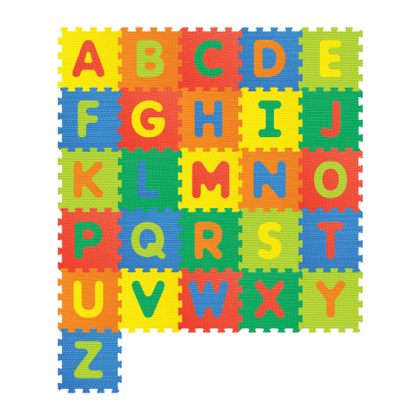 Sunta English Alphabet Big Capital Baby EVA Foam Play Floor Puzzle Crawling Mat Multicolor Non Toxic Material 26Pcs