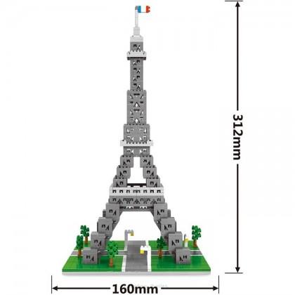 Wise Hawk 2465 Eiffel Tower 3D Building Block DIY Toy Gift