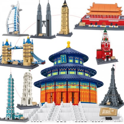 Wange 8020 Temple of Heaven of Beijing 3D Building Block DIY Toy Gift