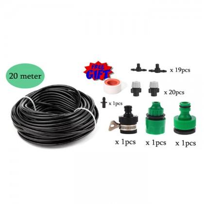 DIY Micro Atomizing Garden Irrigation System Watering Tube Hose Pipe 10m/20m