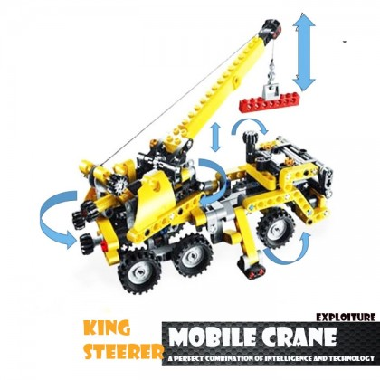 Decool 3349 Technic Transport Truck Moving Building Block Sets Toys
