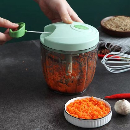 Manual Pull Speedy Chopper for Vegetable Fruit Nut Onion Hand Pull Mincer Blender Mixer Food Processor