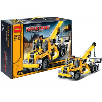 Decool 3348 Technic Truck Crane Car Building Block Sets Toys