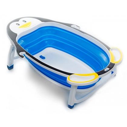 Baby Kid Folding Portable Bathtub Polar Penguin