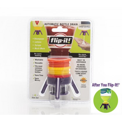 Flip It Cap Bottle Drain Emptying Kit Kitchen Tool