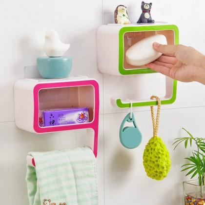 Creative Digital 9 Plastic Box Suction Wall Type Plastic Soap Organizer