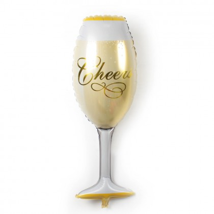 Large Champagne Juices Glasses Birthday Celebration Wedding Party Foil Balloon