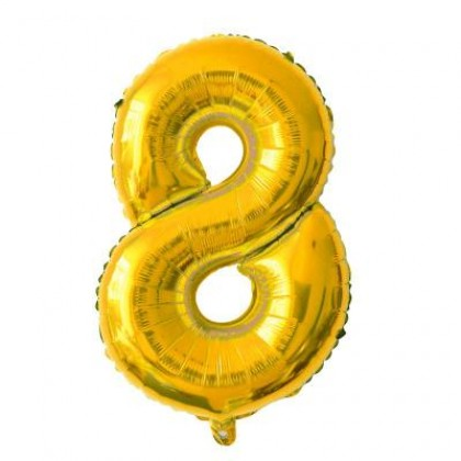 Number Wedding Birthday Party Decoration Gold Party Foil Balloon 16 inch