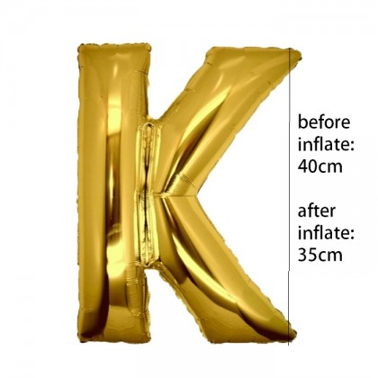 Alphabet Wedding Birthday Party Decoration Gold Party Foil Balloon 16 inch