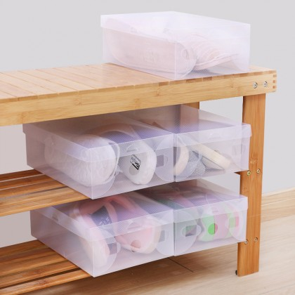 Transparent Drawer Case Shoes Storage Multi Organizer Stackable Box Tidy Home Office