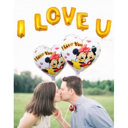 I Love U Large Foil Balloon Set #Valentine #Romantic #Couple
