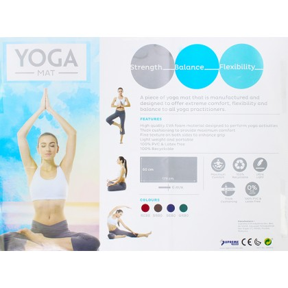 Sunta Supreme Foam Non Slip Extra Thick Exercise Yoga Mat With Carry Strap