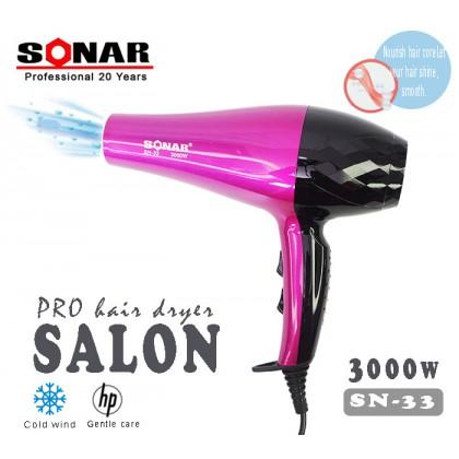 Sonar SN-33 Professional Pro High Power Hair Dryer Salon 3000W