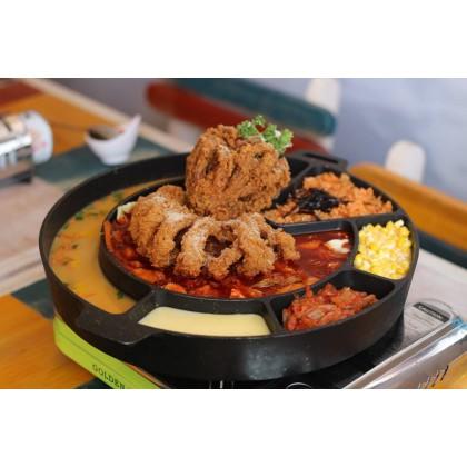 Korea BBQ Cheese Hot Pot Non-Stick Gas Stove Top Grill Pan