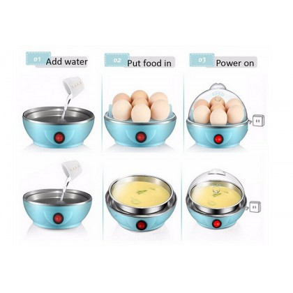 Double Layer Electric Egg Cooker Steamer Poacher Egg Boiler Cake Steamer