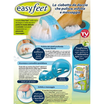 Easy Feet Bathroom Foot Brush Cleaning Slipper Massage Scrubber with Suction Cups