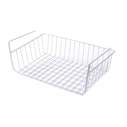 Iron Metal Hanging Under Shelf Drawer Storage Organizer Basket