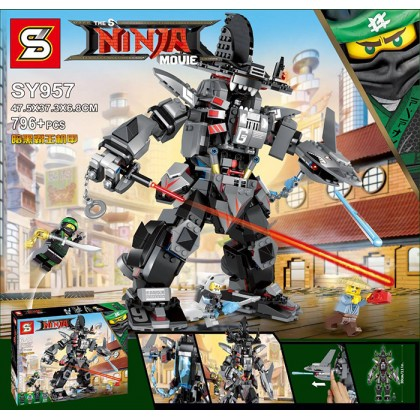 The S SY 957 Ninja Movie Garma Mecha man Building Block Set