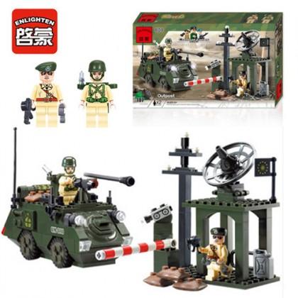 Enlighten 808 Modern Military Station Combat Zones Series Block Bricks Toys