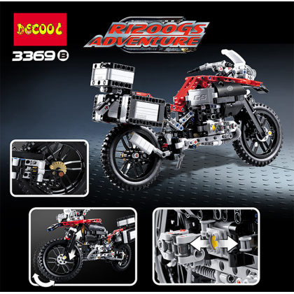 Decool 3369 2-in-1 Motorcycle BMW R 1200 GS Adventure Red Toy