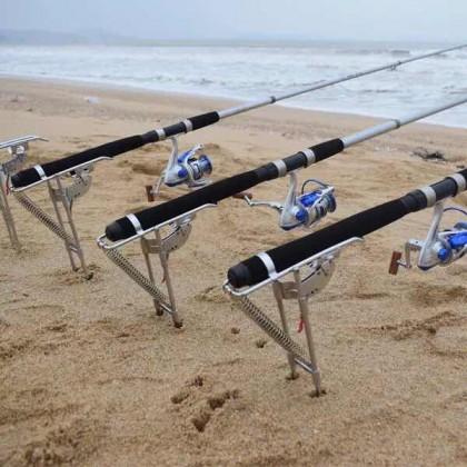 Automatic Fishing Machine Double Spring Fishing Rod Bracket Stand Holder
