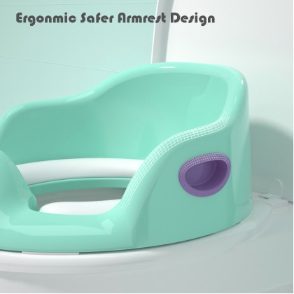 Baby Toilet Seat Training Seat Soft Cushion Child Seat with Handle