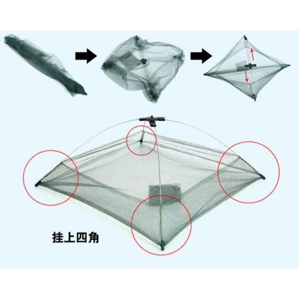 Spider King Foldable Crab Net Fishing Bait Nylon Foldable Fishing Basket