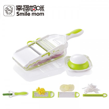 Smile Mom 5 In 1 Multi Slicer Vegetable Fruit Cutter Kitchen Tool B437