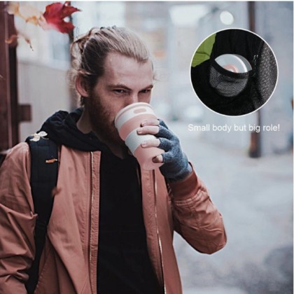Portable BPA Free Collapsible Silicone Water Folding Coffee Cup Travel Camping Outdoor Sport 350ml