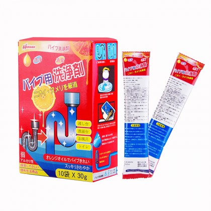 Japan Hannah Powerful Plumbing Agent Toilet Jam Dredge Powder 10pkt x 30g