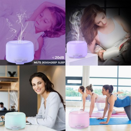 500ml Air Humidifier Essential Oil Diffuser Aroma Aromatherapy with Rainbow Light