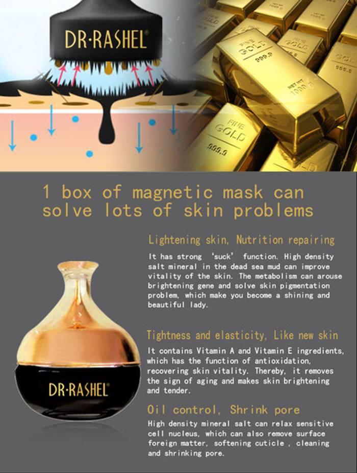DR RASHEL Gold/ Black Face Magnetic Mask Collagen Skin Care