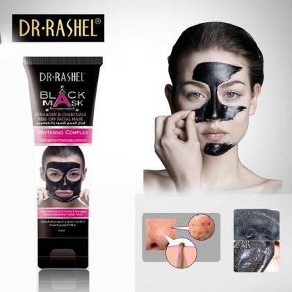 DR-Rashel Black Mask Collagen & Charcoals Peel Off Facial Mack
