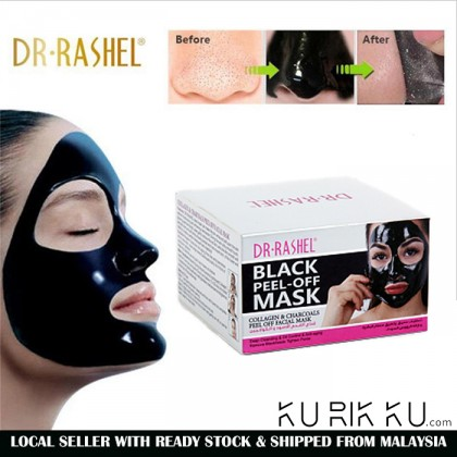 DR-Rashel Black Peel-Off Mask Collagen & Charcoals Peel Off Facial Mask 150G