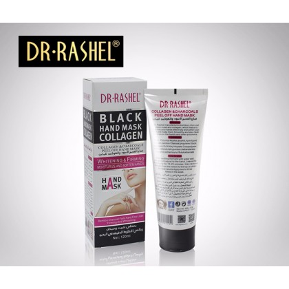 DR-Rashel Black Hand Mask Collagen Peel Off Moisturize and Soften Hands 120ml