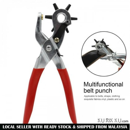 "9"" Belt Leather Hole Puncher With Eyelet Plier Snap Button Grommet Setter Tool Kit Hand Tool"