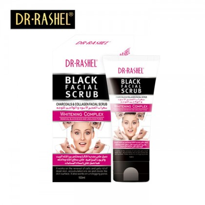 Dr-Rashel Black Facial Scrub Charcoals & Collagen Facial Scrub 100ml