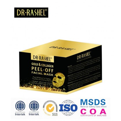 Dr-Rashel Collagen Facial Peel Off Gold Mask Masker Whitening Anti Wrinkle Face Mud Mask 150gm