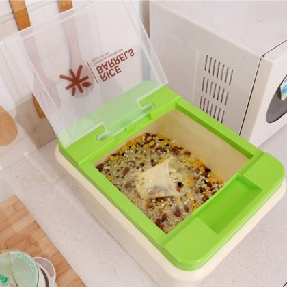 10KG Rice Dispenser Box Storage Hygiene Food Container
