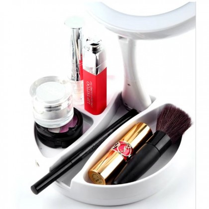 My Fold Away LED Mirror Double Sided Vanity Makeup Women Fashion