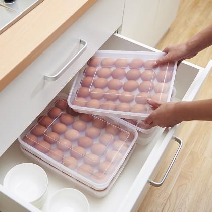 Plastic Refrigerator Transparent 30 Eggs Storage Food Storage Container Box Case