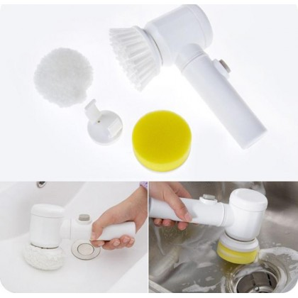 5 in 1 Magic Brush Electric Multi-functional Household Tools Bath Kitchen Cleaning Brush Window Clea
