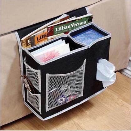Household Hanging Sofa Storage Bag Sundries Holder Case Organizer Remote Control Magazines