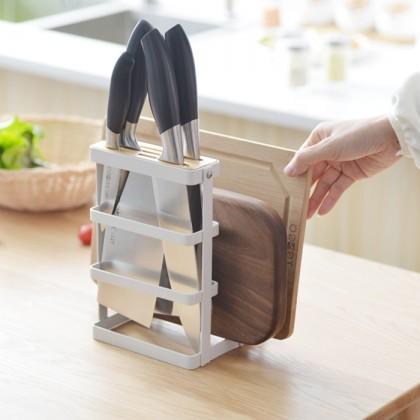 Iron Metal Block Knife Holder Cutting Board Tower Drying Pot Lid Stand Holder Rack Organiser
