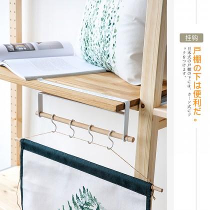 Multifunctional Iron Wood Metal Cabinet Wardrobe Shelves Cup Spoon Spatula Hook Hanger Organiser