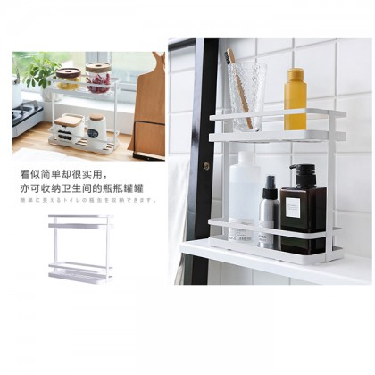 Iron Metal Spice Stand Holder Rack Kitchen Home Toilet Storage Organizer