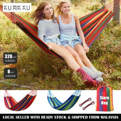 Rainbow Cloth Hammock Hanging Swinging Outdoor Camping