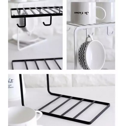 Iron Metal Coffee Cup Hanger Storage Rack Organizer Nordic Style